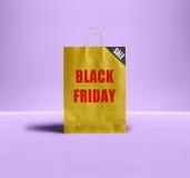 Μαύρη τσάντα εγγράφου Παρασκευής Στοκ εικόνες με δικαίωμα ελεύθερης χρήσης