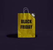 Μαύρη τσάντα εγγράφου Παρασκευής Στοκ εικόνα με δικαίωμα ελεύθερης χρήσης