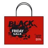 Μαύρη τσάντα πώλησης Παρασκευής - διανυσματική απεικόνιση Στοκ Εικόνα
