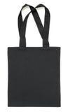 Μαύρη τσάντα υφάσματος στο λευκό Στοκ Φωτογραφία