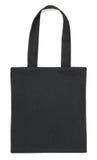 Μαύρη τσάντα υφάσματος στο λευκό Στοκ φωτογραφία με δικαίωμα ελεύθερης χρήσης