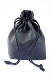 Μαύρη τσάντα υφάσματος Στοκ φωτογραφία με δικαίωμα ελεύθερης χρήσης