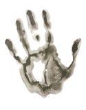 μαύρη τυπωμένη ύλη χεριών στοκ φωτογραφία με δικαίωμα ελεύθερης χρήσης