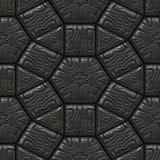 Μαύρη των Μάγια πέτρα άνευ ραφής διανυσματική απεικόνιση