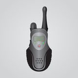 Μαύρη φορητή ραδιο συσκευή αποστολής σημάτων Στοκ Εικόνες