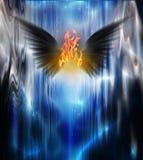 Μαύρη φτερωτή πυρκαγιά Στοκ εικόνα με δικαίωμα ελεύθερης χρήσης