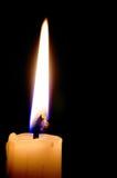 μαύρη φλόγα κεριών ανασκόπησης ενιαία Στοκ Φωτογραφίες