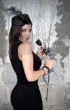 Μαύρη χήρα με ένα πέπλο Στοκ φωτογραφία με δικαίωμα ελεύθερης χρήσης