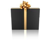 μαύρη χρυσή κορδέλλα δώρων Στοκ εικόνες με δικαίωμα ελεύθερης χρήσης