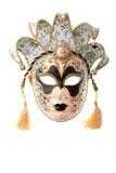 μαύρη χρυσή μάσκα Στοκ Εικόνες