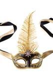 μαύρη χρυσή μάσκα Στοκ φωτογραφία με δικαίωμα ελεύθερης χρήσης
