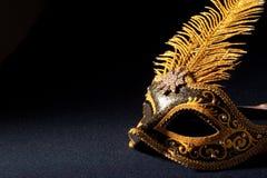μαύρη χρυσή μάσκα Στοκ Φωτογραφίες