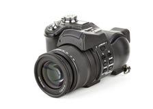 Μαύρη ψηφιακή κάμερα Στοκ φωτογραφία με δικαίωμα ελεύθερης χρήσης