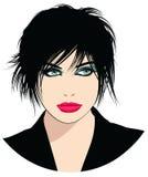 μαύρη όμορφη γυναίκα τριχώματος Στοκ εικόνα με δικαίωμα ελεύθερης χρήσης