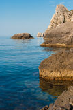 μαύρη δύσκολη θάλασσα ακ&ta Στοκ Φωτογραφία