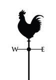 Μαύρη cockerel σκιαγραφία ελεύθερη απεικόνιση δικαιώματος