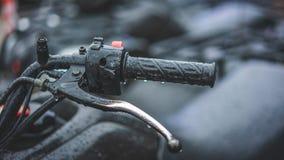 Μαύρη Handlebars ποδηλάτων ακραία αθλητική φωτογραφία στοκ φωτογραφίες