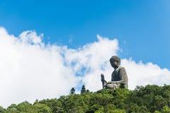 Μαύρισμα Βούδας Tian po lin του μοναστηριού στο νησί Χογκ Κογκ lantau Στοκ εικόνες με δικαίωμα ελεύθερης χρήσης