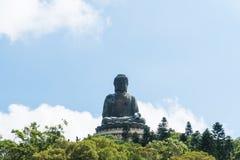 Μαύρισμα Βούδας Tian po lin του μοναστηριού στο νησί Χογκ Κογκ lantau Στοκ Φωτογραφίες