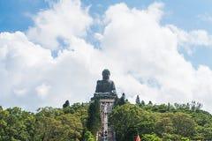 Μαύρισμα Βούδας Tian po lin του μοναστηριού στο νησί Χογκ Κογκ lantau Στοκ φωτογραφία με δικαίωμα ελεύθερης χρήσης