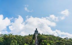 Μαύρισμα Βούδας Tian po lin του μοναστηριού στο νησί Χογκ Κογκ lantau Στοκ Φωτογραφία