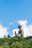 Μαύρισμα Βούδας Tian po lin του μοναστηριού στο νησί Χογκ Κογκ lantau Στοκ φωτογραφίες με δικαίωμα ελεύθερης χρήσης