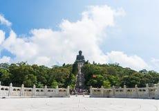 Μαύρισμα Βούδας Tian po lin του μοναστηριού στο νησί Χογκ Κογκ lantau Στοκ εικόνα με δικαίωμα ελεύθερης χρήσης