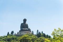 Μαύρισμα Βούδας Tian po lin του μοναστηριού στο νησί Χογκ Κογκ lantau Στοκ Εικόνες
