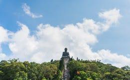 Μαύρισμα Βούδας Tian po lin του μοναστηριού στο Χογκ Κογκ Στοκ Εικόνες