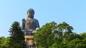 Μαύρισμα ο μεγάλος Βούδας Tian στο lantau, Χογκ Κογκ Στοκ Φωτογραφία