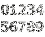 Μαύροι αριθμοί με τη διανυσματική απεικόνιση σχεδίων δακτυλικών αποτυπωμάτων Στοκ Εικόνες