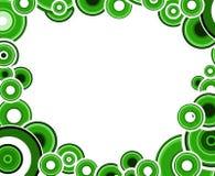 μαύροι κύκλοι πράσινοι Στοκ Φωτογραφία