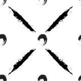 Μαύροι κύκλοι και λωρίδες στο άσπρο υπόβαθρο Στοκ εικόνα με δικαίωμα ελεύθερης χρήσης