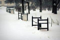 Πάγκοι στο πάρκο Στοκ Φωτογραφία