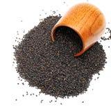 Μαύροι σπόροι σουσαμιού στοκ εικόνες με δικαίωμα ελεύθερης χρήσης