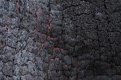 Μαύρος άνθρακας όπως τη μμένη ξύλινη επιφάνεια Στοκ Φωτογραφίες