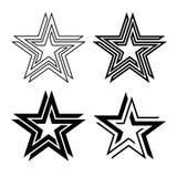 Μαύρος άπειρος βρόχος συμβόλων αστεριών ελεύθερη απεικόνιση δικαιώματος