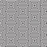 Μαύρος-άσπρο γεωμετρικό σχέδιο Στοκ Εικόνες