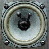 Μαύρος ακουστικός ομιλητής στοκ φωτογραφία με δικαίωμα ελεύθερης χρήσης