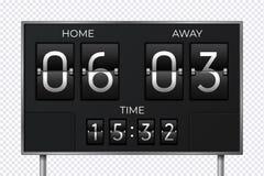 Μαύρος αναδρομικός πίνακας βαθμολογίας Ρολόι αντίστροφης μέτρησης πο διανυσματική απεικόνιση