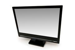 μαύρος απομονωμένος μηνύτορας LCD Στοκ Φωτογραφίες
