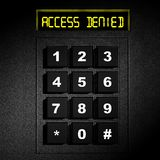 Μαύρος αριθμητικός πίνακας ασφάλειας Στοκ φωτογραφία με δικαίωμα ελεύθερης χρήσης