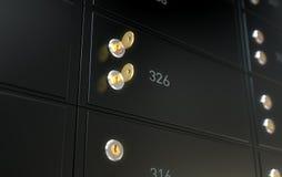 Μαύρος ασφαλής τοίχος κιβωτίων κατάθεσης Στοκ Φωτογραφία