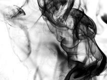Μαύρος αφηρημένος καπνός Στοκ Εικόνες