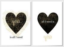 Μαύρος βαλεντίνος καρδιών ημέρας αγάπης καρτών Στοκ φωτογραφίες με δικαίωμα ελεύθερης χρήσης