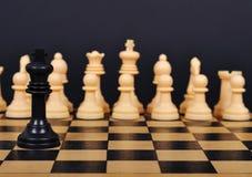 μαύρος βασιλιάς σκακιού Στοκ Φωτογραφία
