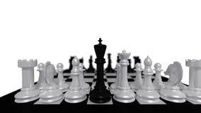 Μαύρος βασιλιάς Στοκ εικόνα με δικαίωμα ελεύθερης χρήσης