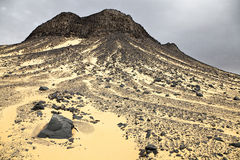 μαύρος βράχος σχηματισμών ερήμων Στοκ Εικόνες