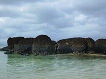 μαύρος βράχος Στοκ εικόνες με δικαίωμα ελεύθερης χρήσης