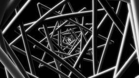 Μαύρος βρόχος υποβάθρου καλωδίων 4k 60fps μοντέρνος γεωμετρικός τηλεοπτικός απεικόνιση αποθεμάτων